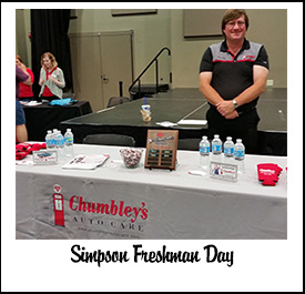 Chumbley's Auto Care | Simpson Freshman Day